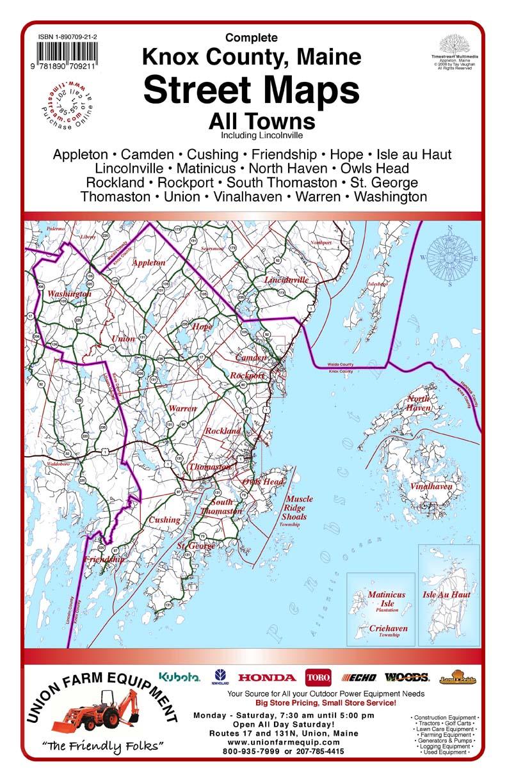 Timestream Maps Knox County Maine
