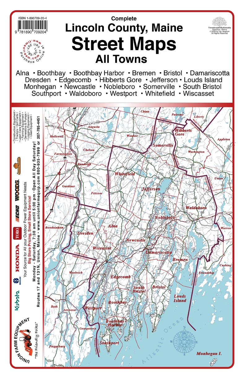Timestream Maps  Lincoln County Maine
